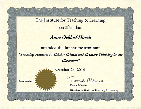 certificate: teaching_students_to_think