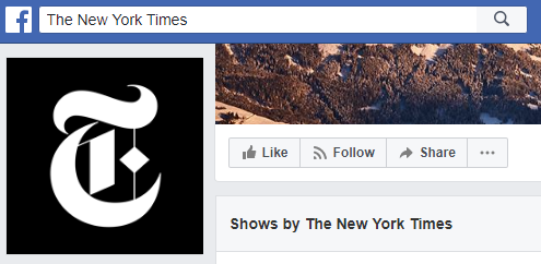 New York Times on Facebook