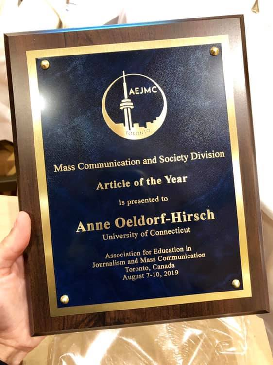 AEJMC article of the year award